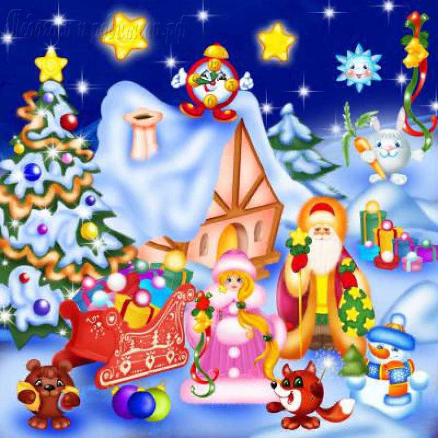 Картинка на новый год в садик